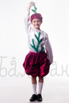 Beet vegetable collection costume for a little boy