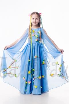 костюм Весны в голубом