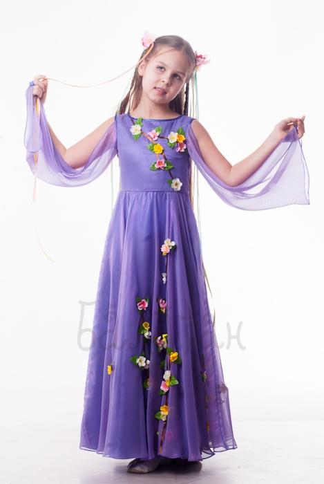 Костюм Весны в фиолетовом
