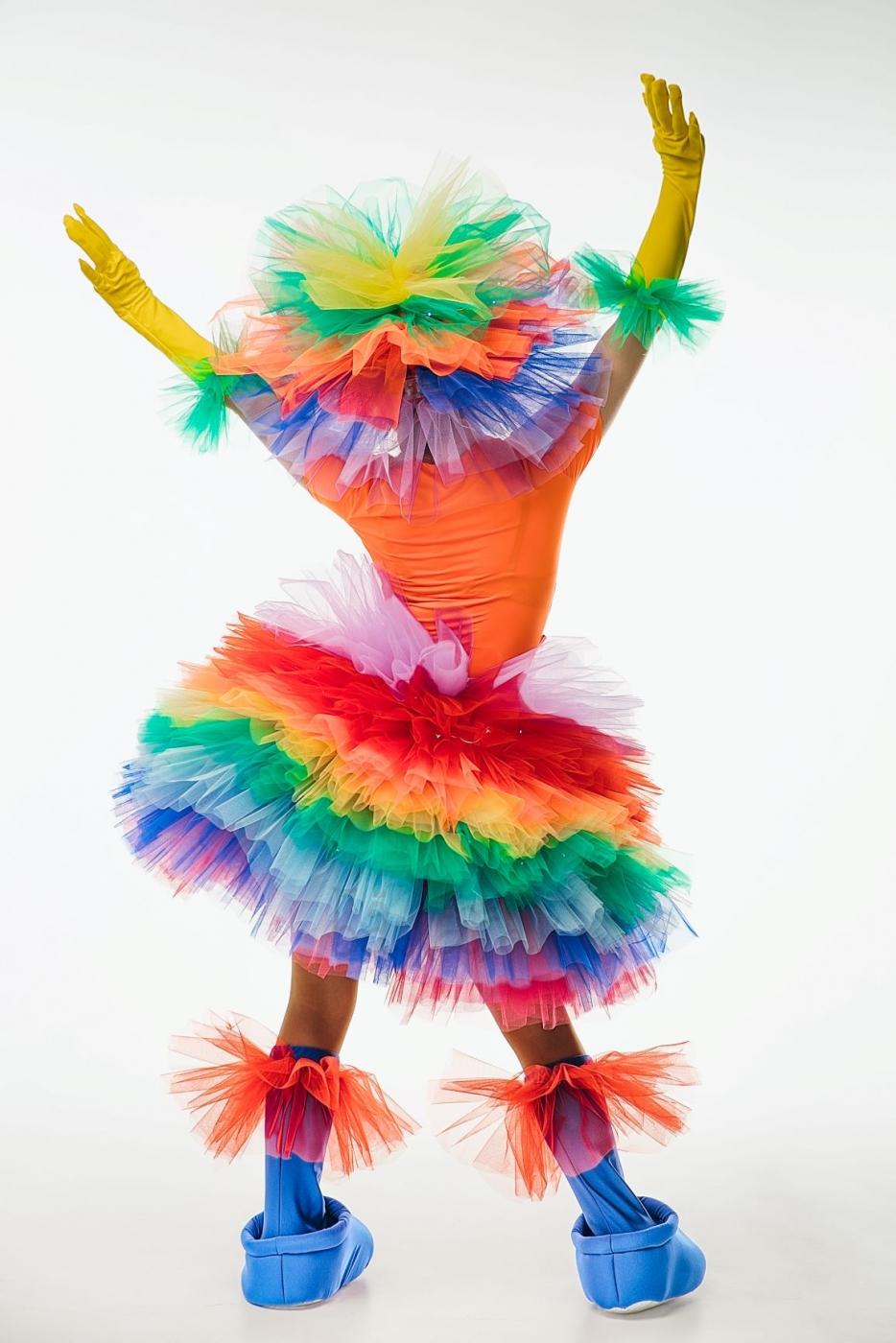 Костюм фьека светящийся разноцветный