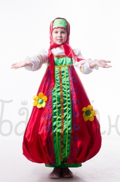 Doll Matrioshka Russian national toys costume for little girl  long dress
