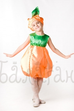 Pumpkin vegetable costume for little girl party dress