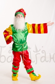 Funny gnome cosplay costume for a little boy