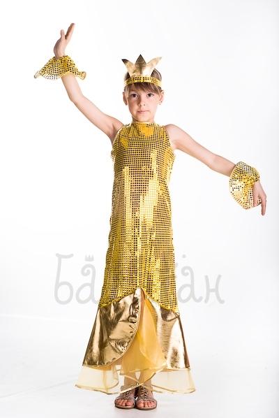 Костюм золотой рыбки для девочки