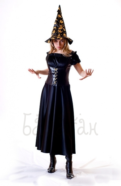 Костюм ведьмы в длинном платье