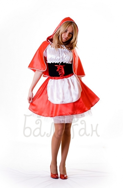 Little red riding hood fairytale costume for woman