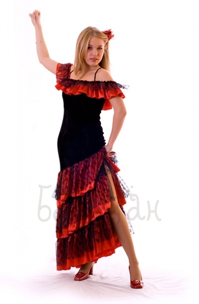 Костюм танцовщицы фламенко