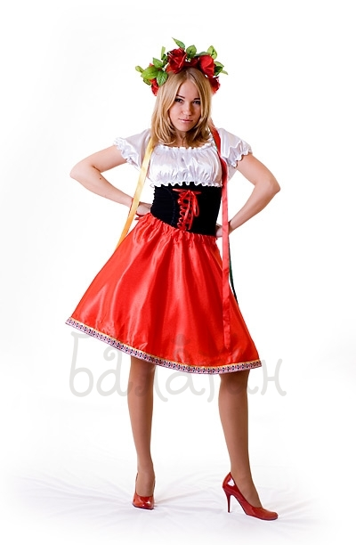 Ukrainian costume for woman short dress