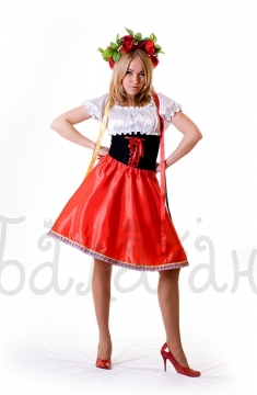 Ukrainian costume for woman short dress