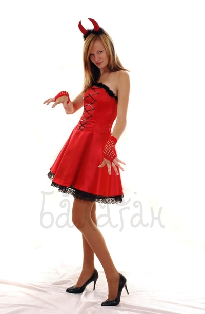 Little devil Halloween party costume for woman