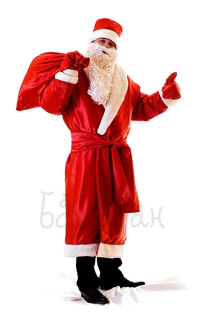 Костюм Деда Мороза с мешком для подарков