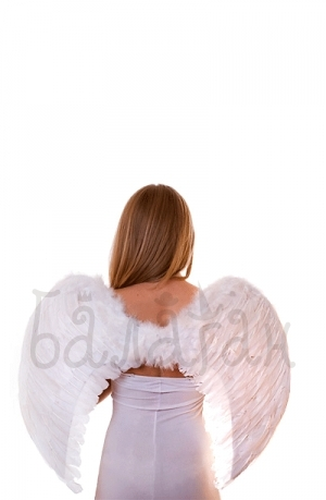 Angel wings White color feathers Accessories