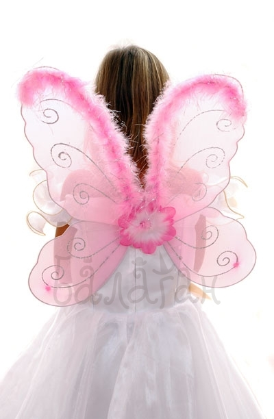 Butterfly wings pink  fluff Accessories