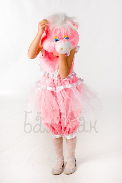Little Pig party costume pink dress for little girl