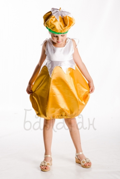 Turnip vegetable dress for little girl cosplay costume
