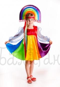 Kids fantasy rainbow costume for little girl