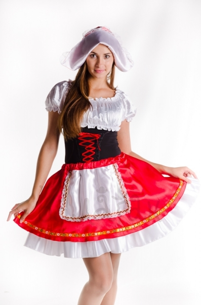 Little red riding hood classic fairytale costume for woman