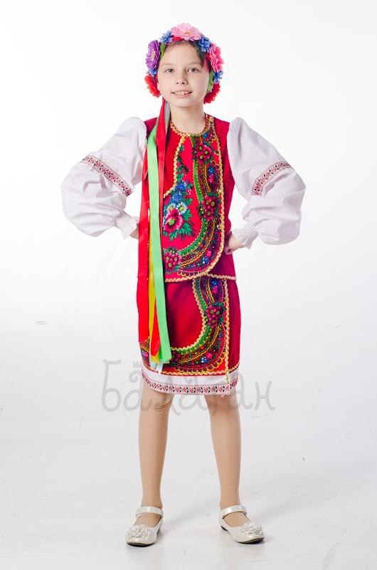 Костюм украинки слобожанский для девочки