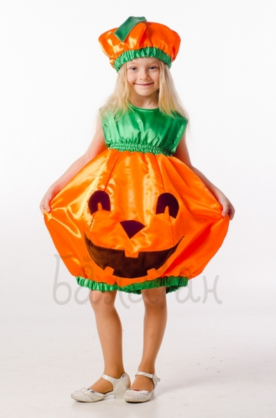 Halloween orange pumpkin costume for little girl Kids party