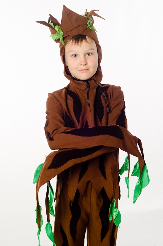 Little Green tree costume for little boy