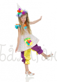 Funny Clown kids costume Clowness sweet Barberry girls costume