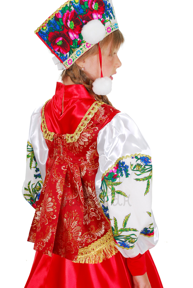 Костюм боярский для девочки