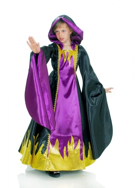Gothic enchantress Kids Girls Halloween witch costume