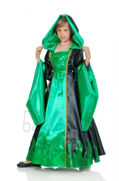Kids Girls Forest witch Halloween Costume Magic Sorceress