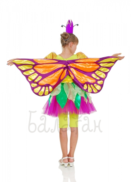 Butterfly princess child's costume for little girls with wings