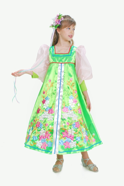 Flowering Spring Dress costume for little girls