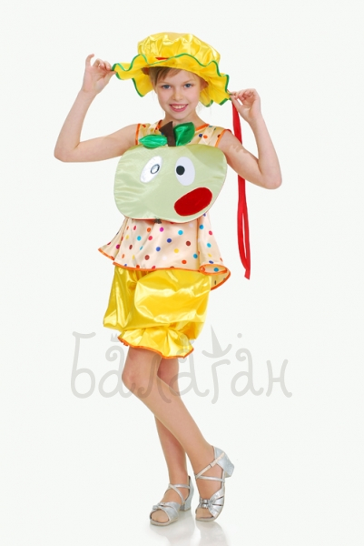 Green Apple fruit collection costume for little girl