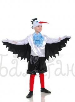 Stork bird Collection satin costume for little boy