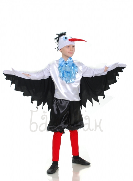 Stork bird Collection satin costume for little boy