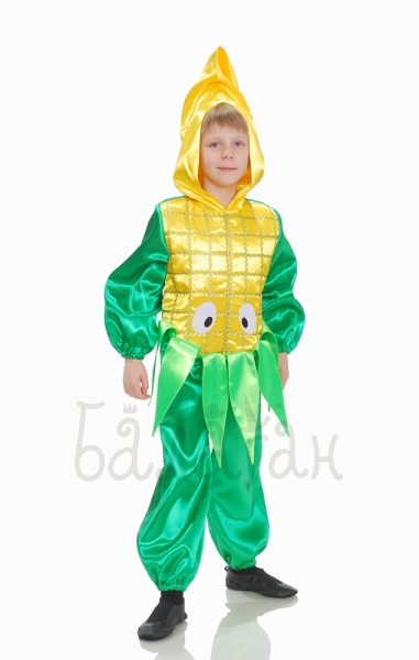 Corn vegetable collection costume for little boy