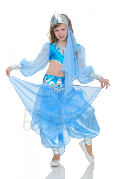 Orientall Belly Dance Blue costume little girls