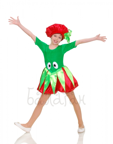Tomato costume for little girls Funny vegetables