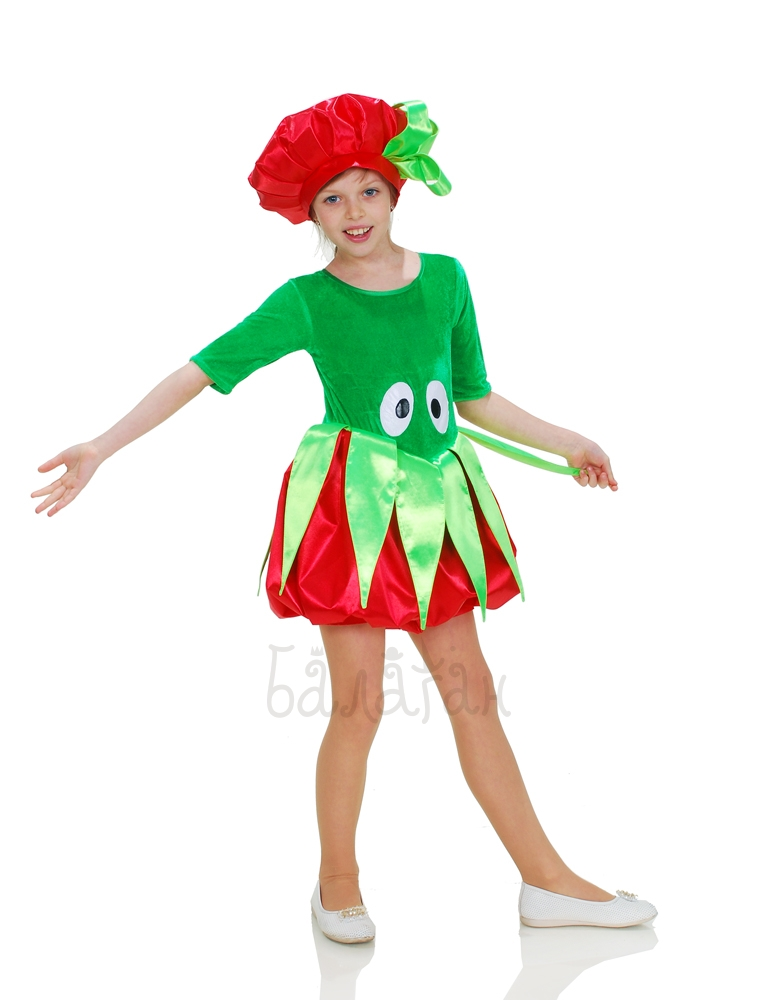 Костюм помидорки для девочки