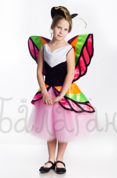 Little butterfly short dress for little girl