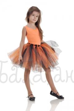 Юбка пачка оранжевая