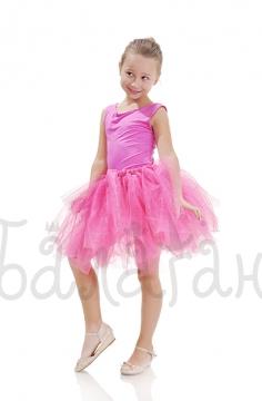 Юбка пачка розовая с блестками