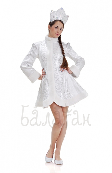 Snow maiden Silver short dress costume for woman