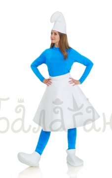 Smurfetta Cartoon Smurfs costume for woman with skirt
