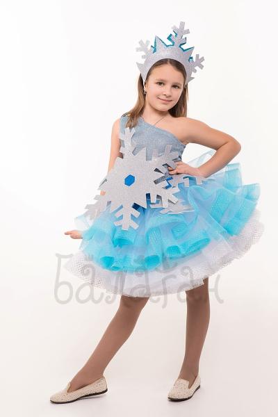 Kids snowflake princess costume for little girl