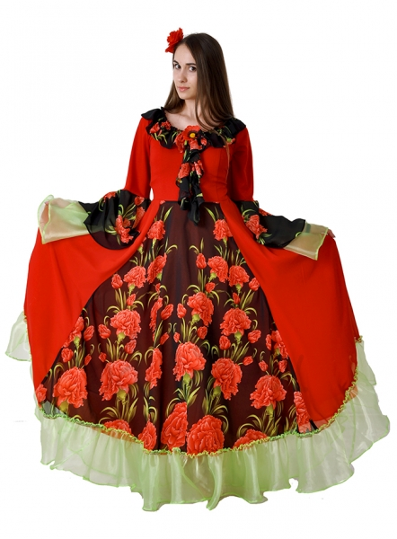 Gipsy costume for Woman party dress