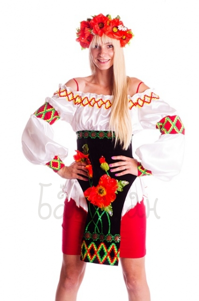 National Ukrainian costume Poppy dress costume for woman
