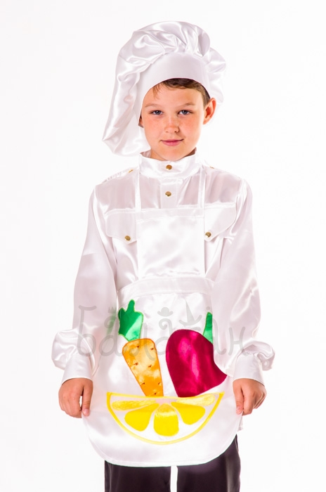 Little Cook profession costume for little boy