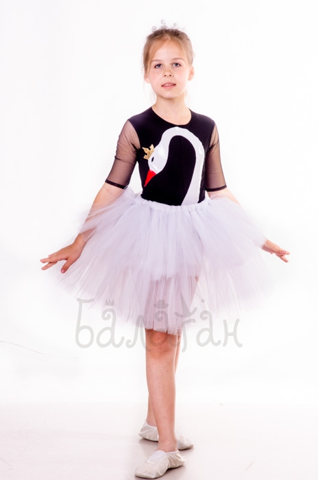 Little swan costume dress for little girl